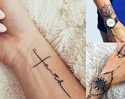 Tatuaż w okolicy nadgarstka - 25 pomysłów na dziewczęcy tatuaż
