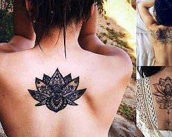Tatuaże na plecy - 17 niezwykłych i ultrakobiecych wzorów