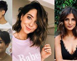 20 pomysłów na fryzurę dla brunetek i szatynek - włosy krótkie i półdługie