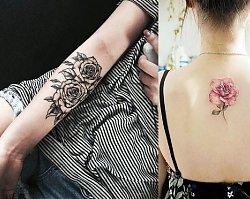 Tatuaż róża - galeria ślicznych i oryginalnych wzorów dla kobiet