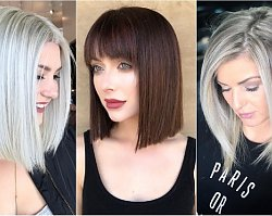 Modne fryzury średnie 2019. Cięcia włosów do ramion dla wielbicielek nowych trendów