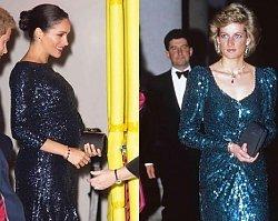 Księżna Meghan w cekinach i bransoletce chciała oddać hołd Dianie, ale zamiast słów uznania Amerykanka zebrała HEJT!