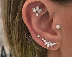 Nowy modny piercing ucha: TRAGUS. Dziewczyny pokochały kolczyk w tym miejscu