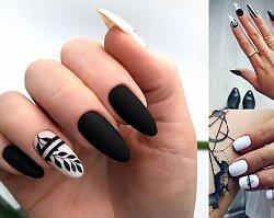 Czarno-biały manicure - 20 stylowych i mega kobiecych zdobień