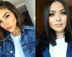 21 półdługich fryzur dla brunetek i szatynek - odsłony 2019