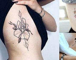 Tatuaż na żebrach - 30 kobiecych wzorów, które robią wrażenie