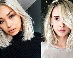 Półdługie fryzury dla blondynek - 18 niezwykłych propozycji