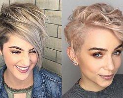 Krótkie włosy z grzywką na bok – galeria ultramodnych fryzur 2019