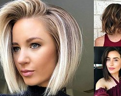 30 propozycji na półkrótkie cięcie włosów - trendy 2019