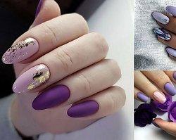 Fioletowy manicure - galeria najpiękniejszych zdobień