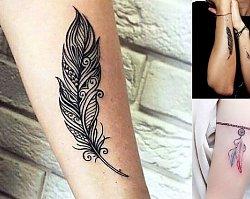 Tatuaż piórko - 25 niesamowitych wzorów dla kobiet
