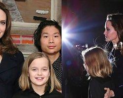 Angelina Jolie z dziećmi na premierze filmu! Piękna gromadka, lecz mama nie wygląda na szczęśliwą...