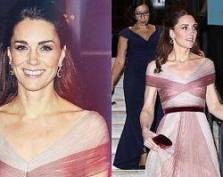 """Księżna Kate w sukni od Gucciego """"tak PŁASKA, że mógłby wylądować na niej helikopter!"""""""
