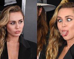 Grammy 2019: Miley Cyrus z dekoltem do pępka i BEZ STANIKA. Wróciła do starego stylu?