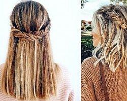 19 modnych fryzur z warkoczem dla półkrótkich włosów