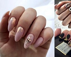 Manicure ze złotymi zdobieniami - 18 gustownych stylizacji