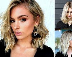 Półdługie fryzury dla blondynek - galeria najpiękniejszych cięć