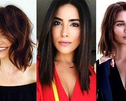 Półdługie fryzury dla brunetek i szatynek - 19 zjawiskowych cięć włosów