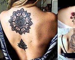 23 propozycje na niesamowity i ultrakobiecy tatuaż w okolicy pleców