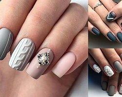Szary manicure - 17 najlepszych propozycji z sieci