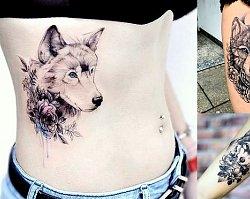 Tatuaż z motywem wilka - galeria tajemniczych i kobiecych wzorów