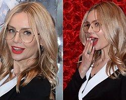 Odmieniona Agnieszka Woźniak-Starak na targach beauty. Okulary to nie jedyna zmiana w jej wyglądzie