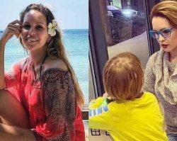 """Julia Oleś chwali się sztucznymi piersiami na Instagramie. """"Cyce jak donice."""" Zdjęcie zrobił jej.... 4-letni syn!"""
