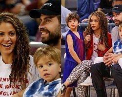 Shakira z dziećmi na meczu koszykówki! Sasha i Milan rosną jak na drożdżach!