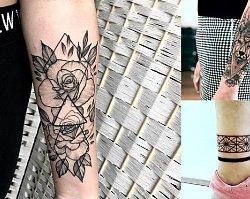 Geometryczne tatuaże - galeria magicznych i kobiecych wzorów