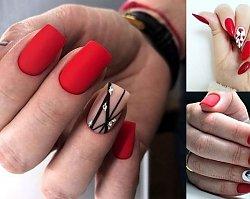 Czerwony manicure - 21 najpiękniejszych pomysłów z sieci