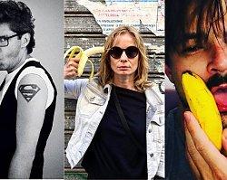 Gwiazdy pozują z bananem w ramach protestu przeciwko cenzurze w sztuce [ZDJĘCIA]
