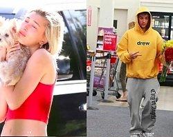 """Zapłakana Hailey Bieber tuli psa, a Justin pędzi do marketu po kwiaty. """"Wszystko przez Selenę"""", piszą fani"""