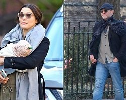 """Rachel Weisz i Daniel Craig wybrali się na wiosenny spacer z dzieckiem. """"On jak z igły, ona ZANIEDBANA""""... Na rodziców wylał się HEJT!"""