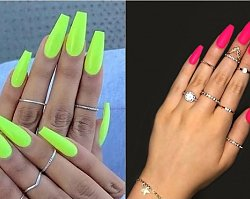Neonowe paznokcie - manicure w najmodniejszym wydaniu na wiosnę 2019