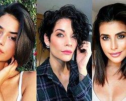 Galeria stylowych fryzur dla brunetek lub szatynek - włosy krótkie i półdługie