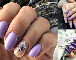 Fioletowy manicure ponownie na topie - 21 fantastycznych pomysłów