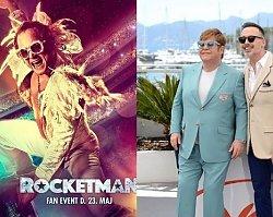 Elton John z mężem w Cannes promuje film o sobie i ściska się z odtwórcą głównej roli. Jest chemia?