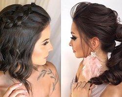 Fryzury na wesele 2019 - urocze upięcia średnich i długich włosów