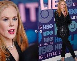 """Nicole Kidman na premierze drugiego sezonu """"Wielkich kłamstewek"""" wyglądała zjawiskowo, lecz nas zaniepokoił jej NOS! W jednym miejscu się zapada..."""