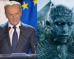 """Donald Tusk porównał pewnego polityka do Króla Nocy z """"Gry o tron""""? """"Nie mam nikogo konkretnego na myśli"""". Ale internauci mają swój typ"""