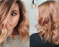 Modne kolory włosów 2019: Peach Cobbler Hair - koloryzacja w odcieniach brzoskwiniowego ciasta