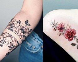 Tatuaże kwiaty - galeria najnowszych wzorów dla dziewczyn