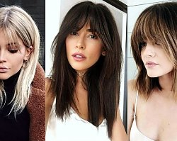 Półdługie fryzury z grzywką, które uwielbiamy - przegląd trendów na lato