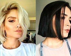 Cięcia włosów w pół szyi – galeria letnich fryzur