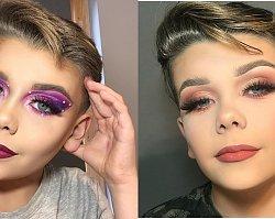 Ten 12-letni chłopiec jest królem makijażu! Potrafi umalować się lepiej niż niejedna kobieta. Zdjęcia robią wrażenie!