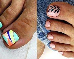 Pedicure na lato - oryginalne wzorki na paznokcie u nóg, jakich jeszcze nie miałyście!