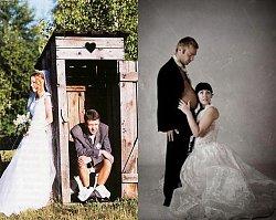 20 najdziwniejszych sesji ślubnych, z których śmieje się cały świat. Nasz hit to nr 5!