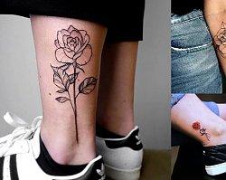 Tatuaż róża - 20 nietuzinkowych wzorów dla dziewczyn