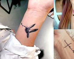 Tatuaż w okolicy nadgarstka - 30 dziewczęcych wzorów