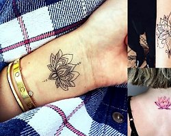 Kwiat lotosu - 20 niezwykle kobiecych tatuaży, które Cię urzekną